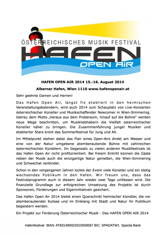 Hafen Open Air 15.-16.08.2014
